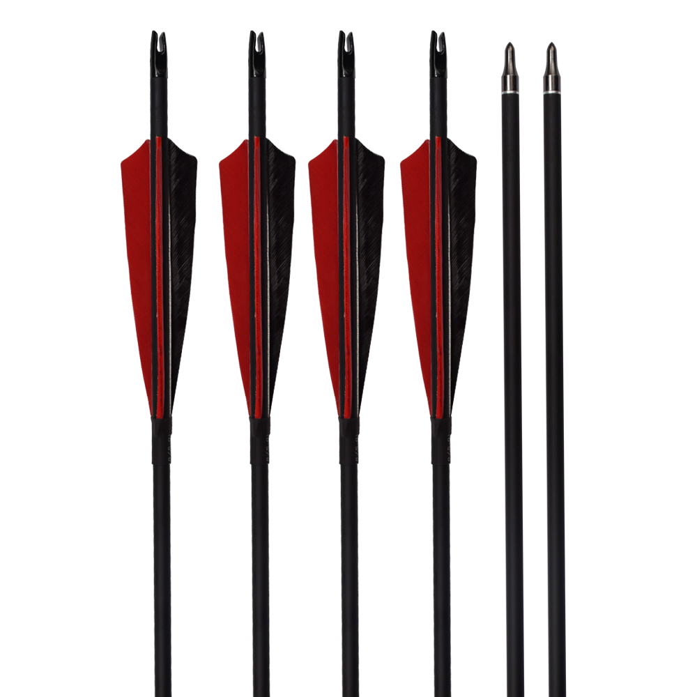 Turkey Feather Roll Fiberglass Arrows