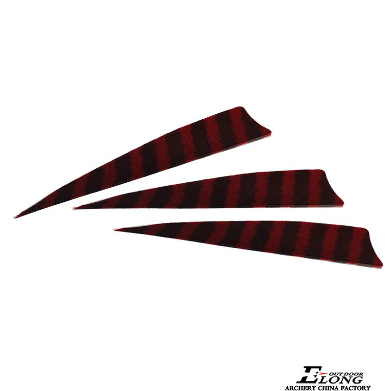 5''stripe shield turkey feather various colors