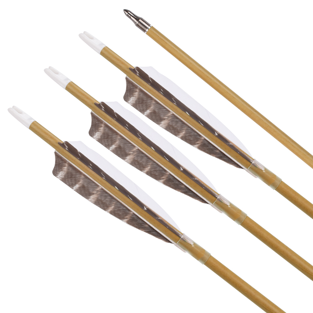 Wood camo pure carbon arrow natural stripe feather