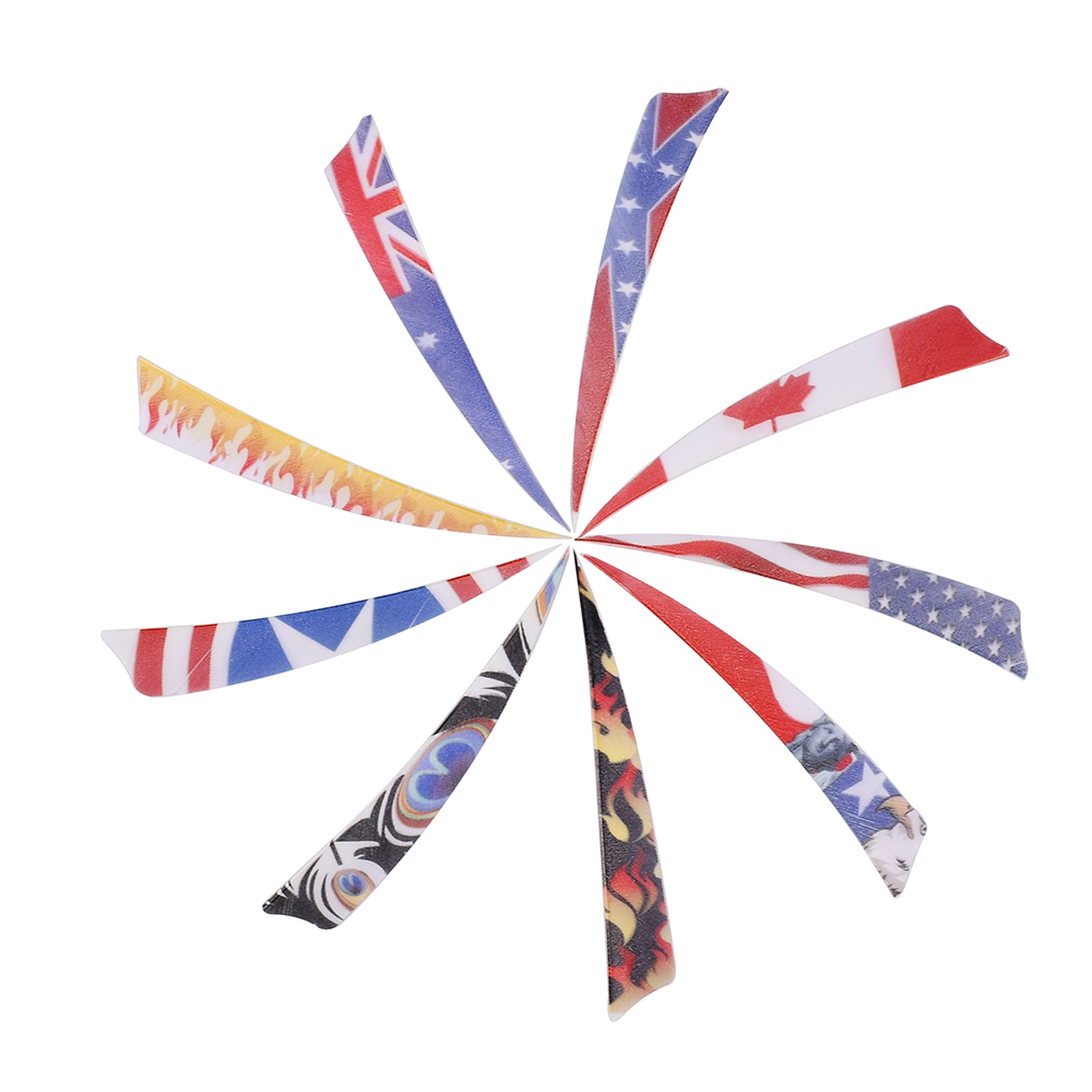 New arrival national flag pattern 4'' 5'' turkey feather